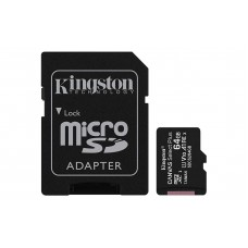 Kingston MicroSD Canvas Select Plus 64GB 100MB/s V10 A1 Memory Card