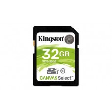 KINGSTON CANVAS SELECT SD 80MB/s Read 10MB/s Write 32 GB CLASS 10 CARD